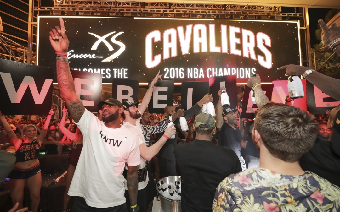 Arrow Stage Lines Helps NBA Champion Cavs Celebrate In Style