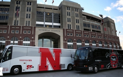 Arrow Stage Lines' Custom Husker Buses Get Some Attention