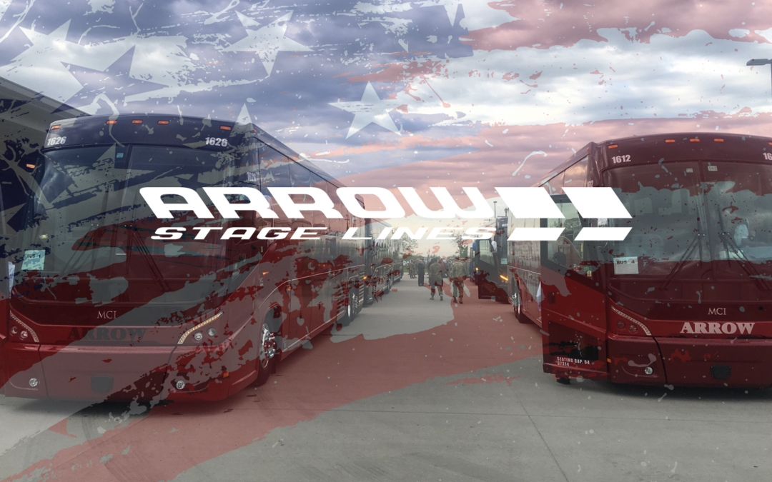Arrow Stage Lines Proud to Provide Military Transportation